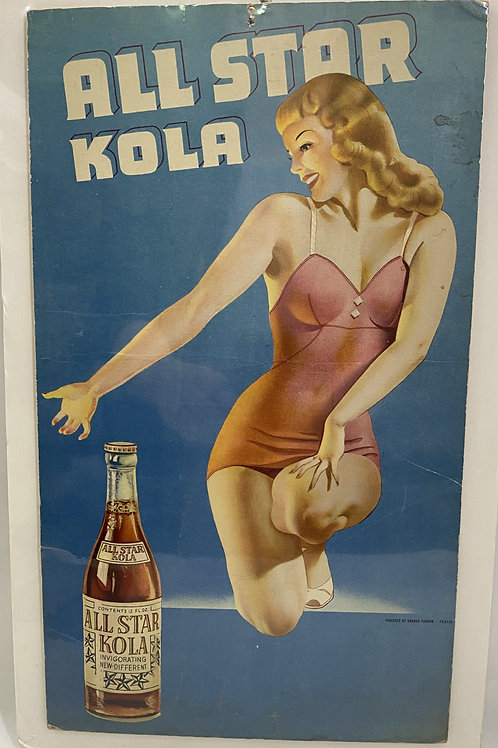 All Star Kola Cardboard Ad