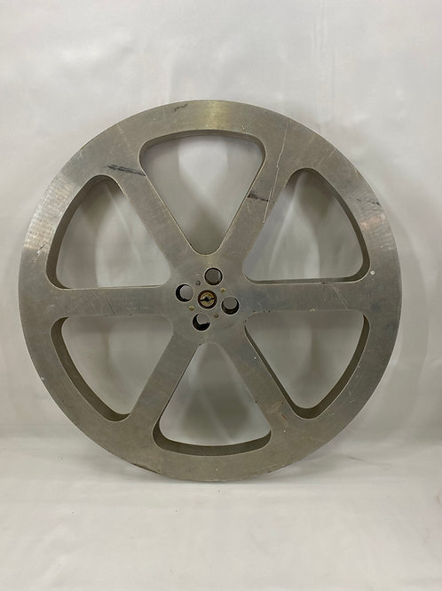 "Vintage  Film Reel  24"" Diameter General Devices & Eng Co Hollywood Calif"