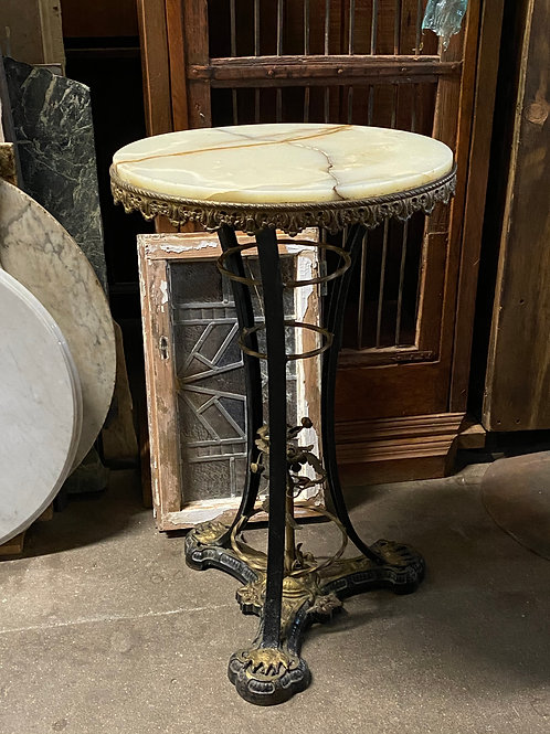 Iron Table with Marble Top (cracked)