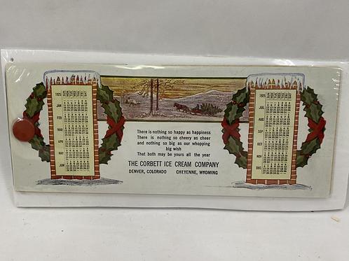 1925 The Corbett Ice Cream Company Calendar