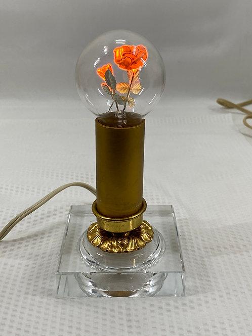 Vintage Light with Rose Bulb