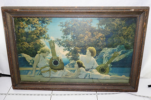 Framed Maxfield Parrish Print - Lute Players
