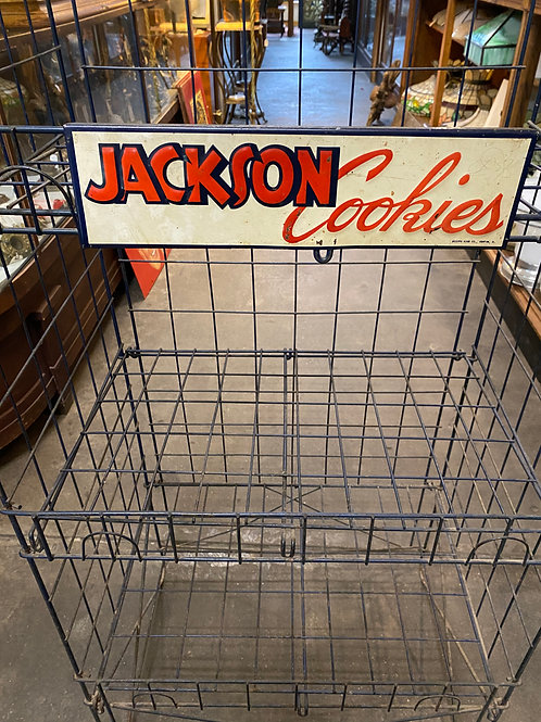 Vintage Jackson Cookies Display Rack