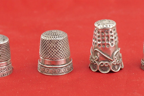 Set of 4 Sterling Silver Thimbles