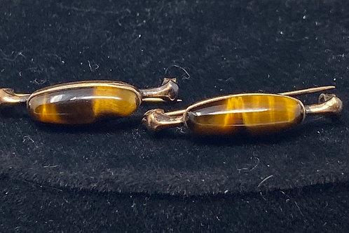 Tiger Eye Bar Pin Set of Two