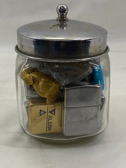 Candy Jar with Cigar Lighter Collection
