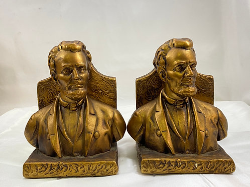 Plaster Abraham Lincoln Bookends