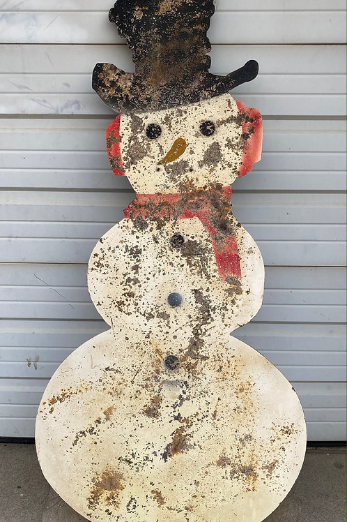 Snowman Metal Decorative Sign