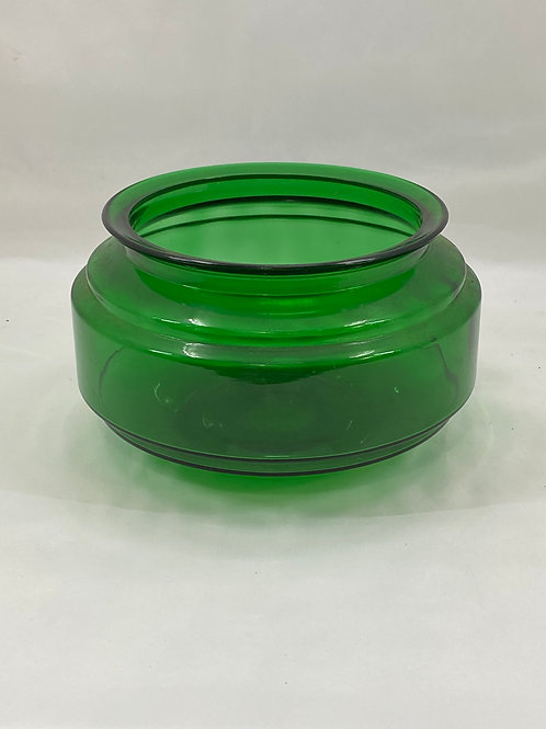 Vintage 1950s Green Glass Fish Bowl