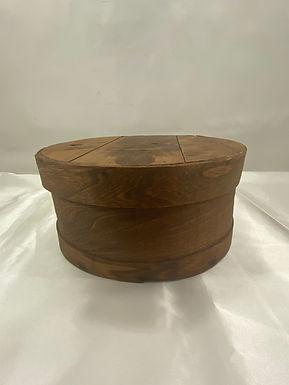 Round Wooden Hat Box