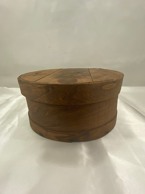 Round Wooden Hat Box