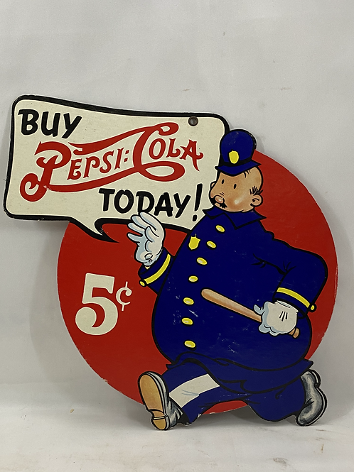 1950s Vintage 2-Sided Pepsi Cola Sign