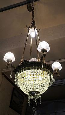 1900s Empire Crystal Chandelier