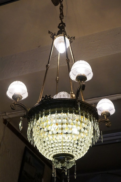 1900s Empire Crystal Chandelier