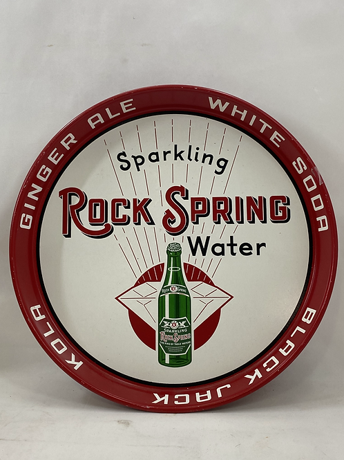 Ginger Ale Sparkling Rock Spring Water Tin Tray