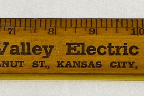Wooden Ruler - Missouri Valley Electric Co