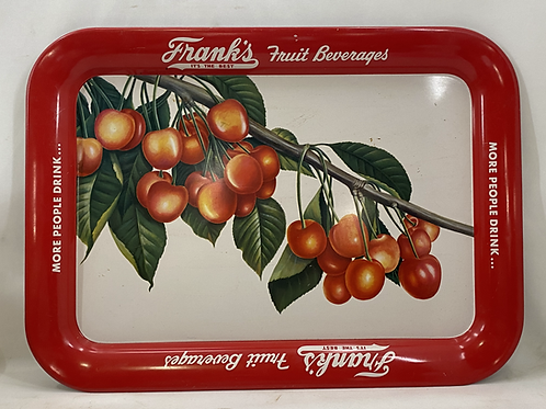 Frank's Fruit Beverages Tin Tray
