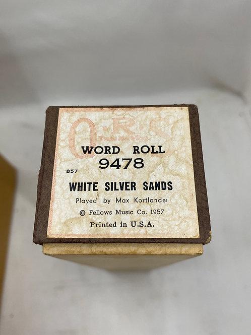 Piano Roll White Silver Sands 9478