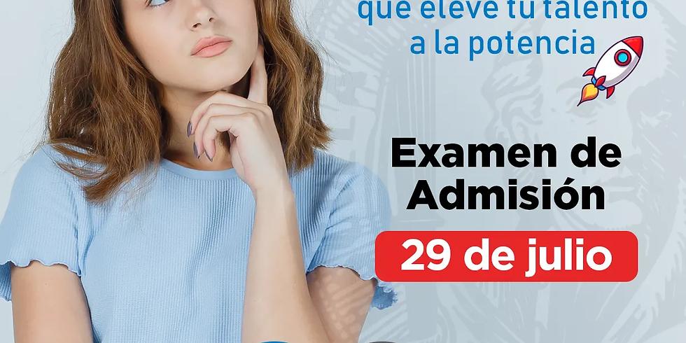 Examen de Admisión 29 julio 2021
