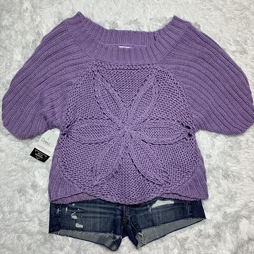 Love & Harmony Off the Shoulder Sweater Purple