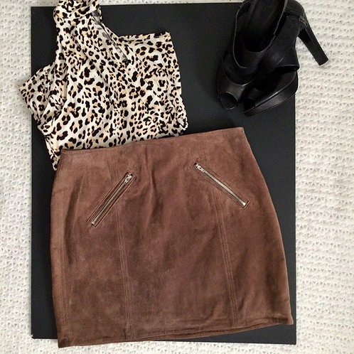 SUEDE MINI SKIRT SIZE 27