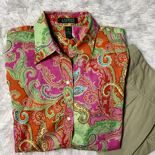 Lauren Ralph Lauren Button Down Paisley Shirt