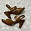 Thumbnail: b.o.c. Women's Truly Saddle Full-Grain Sandal Sz 8