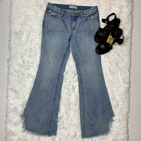 We The Free Jeans | Frayed Distressed Wide Leg