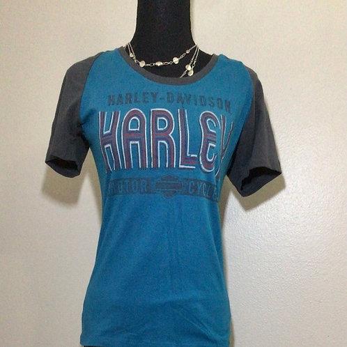 Harley-Davidson Women's Scoop Neck Shirt Size Medium