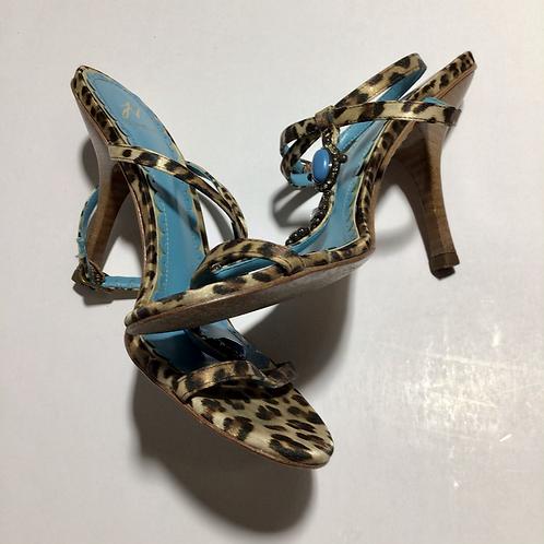 J Vincent Women's Heels Dolly Kitten Leopard Sz 6.5