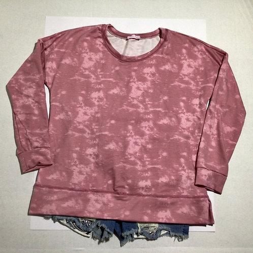 Pink Lily Tie Dye Pink Pullover Size Medium