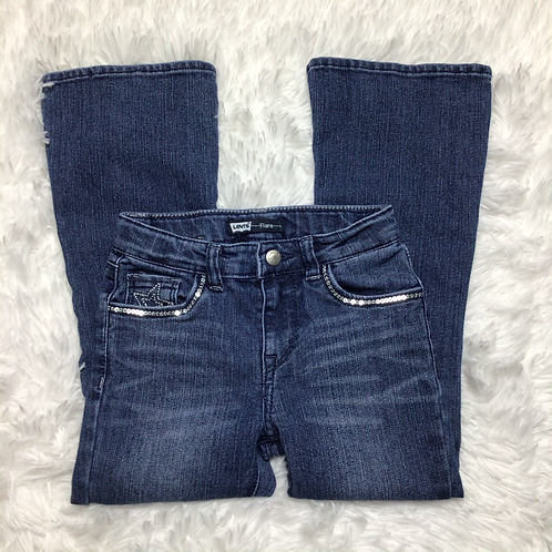 Levi's Girls Sequined Flare Jeans Sz 6