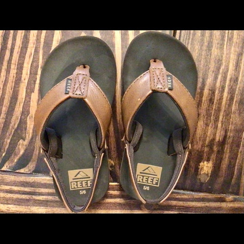 Boys Size 5/6 Reef Leather Sandals