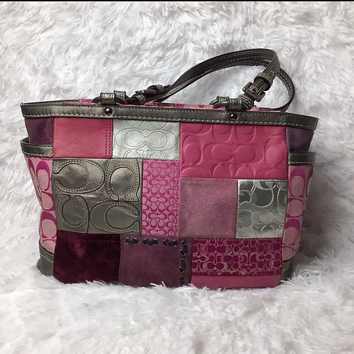 Authentic Coach Limited Edition Patchwork Shoulder Bag Limited Edition