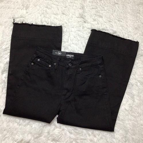 Umgee Culotte High Rise Wide Leg Cropped Women's Jeans Sz 26