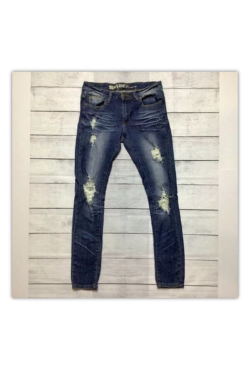 Machine Women's Nouvelle Mode Jeans Distressed Sz 30W