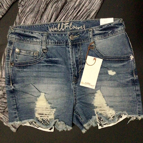 Wallflower Jean Shorts Sky High Shorty Size 7