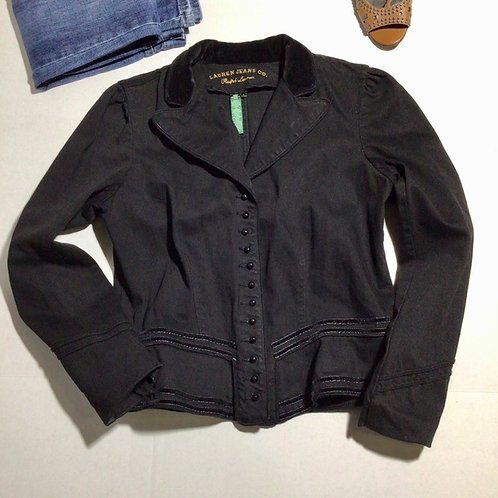 Lauren Jeans Co Ralph Lauren Jean Jacket Black Size Large
