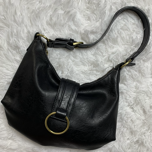 Anthropologie Black Leather Slouchy Tote
