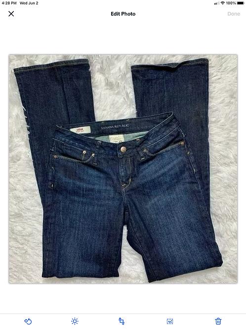 Banana Republic Women's Urban Bootcut Dark Wash Jeans Sz 0