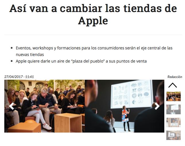 Apple nueva obra maestra en Customer Experience