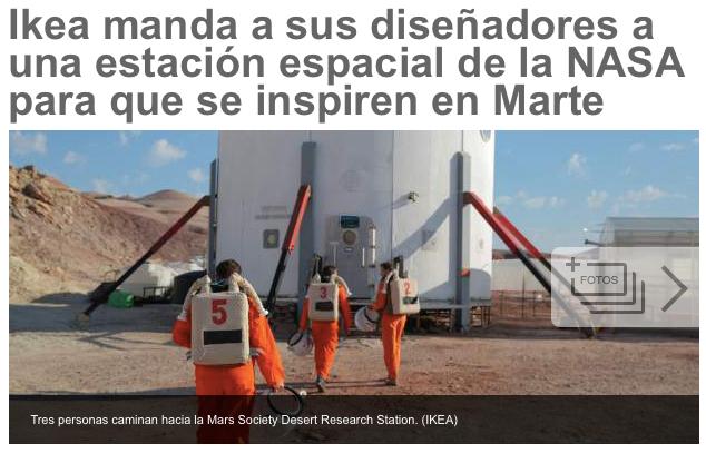 """Innovación con la Nasa en """"marte"""""""
