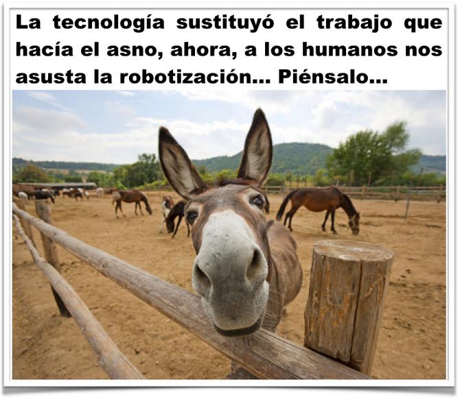 Robotización a lo asno...