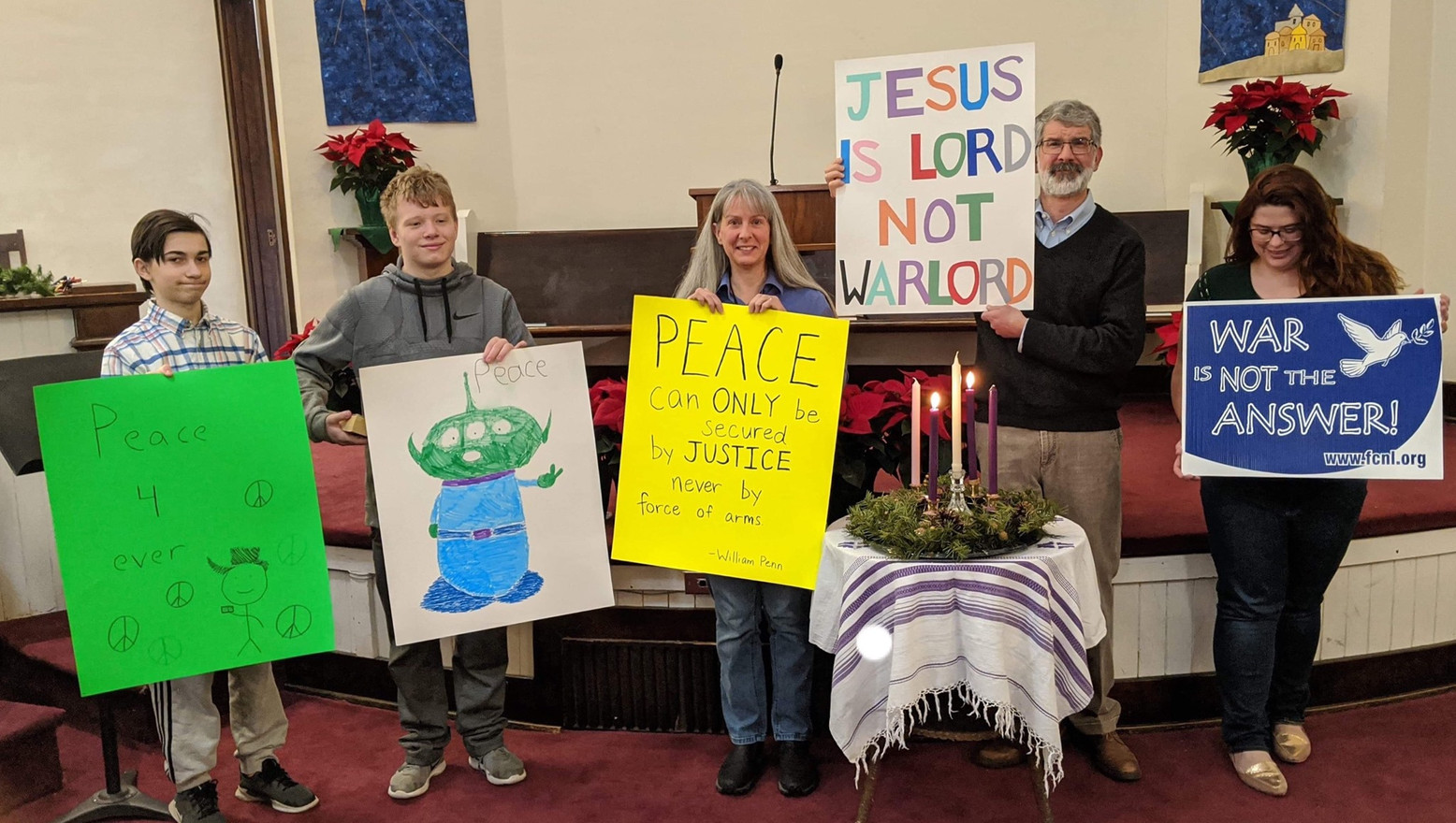 We talk about peace with Quaker youth
