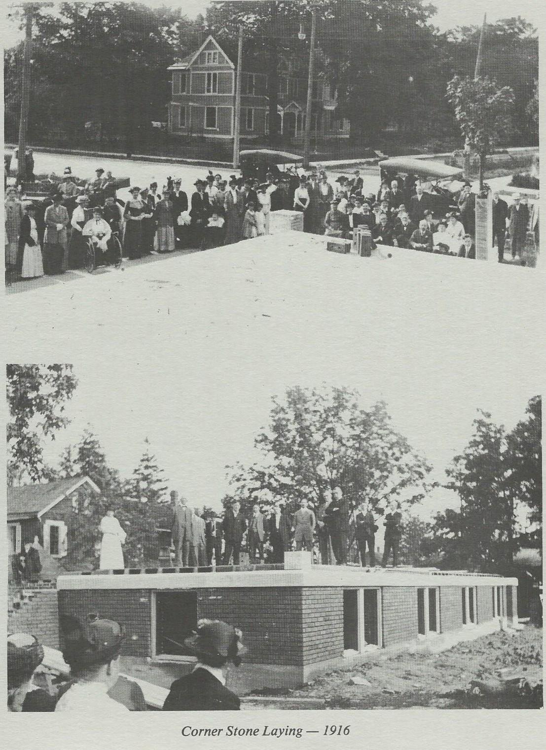 Cornerstone Laying 1916