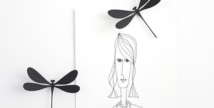 VILA magnet (dragonfly) Black