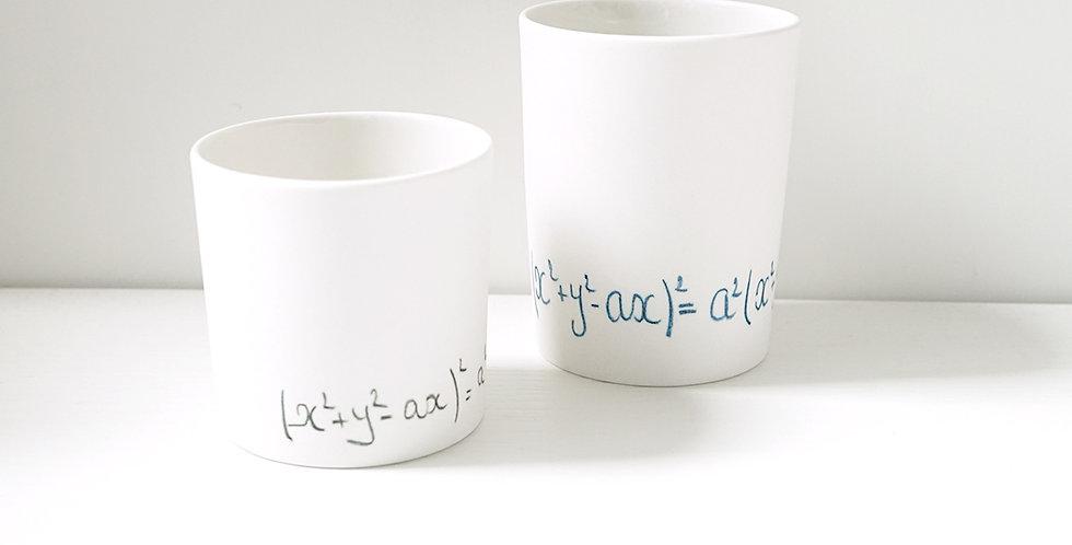Porcelain Cup Pencil Pattern fake M Black