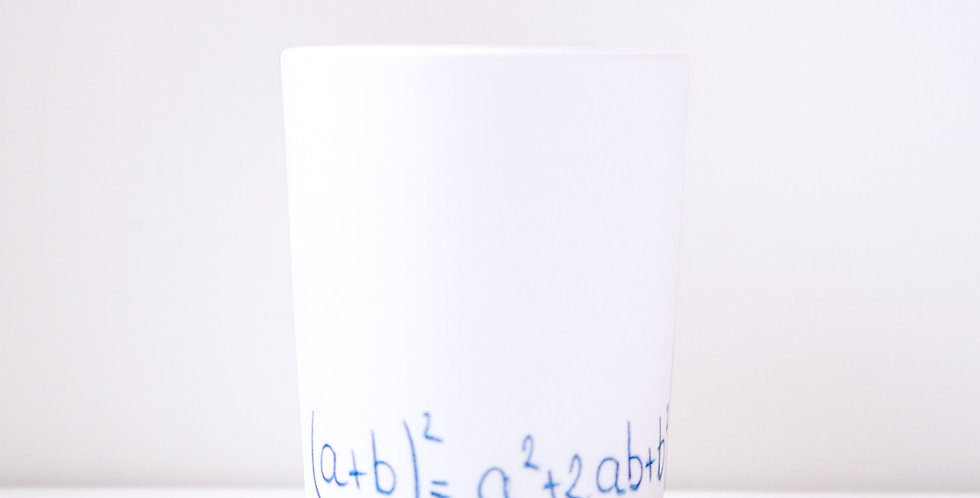 Porcelain Cup Pencil Pattern Equation L Blue