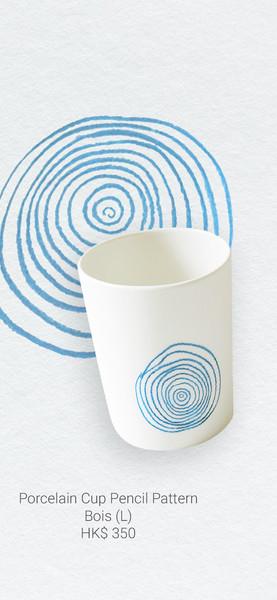 Porcelain Cup Pencil Pattern Bois
