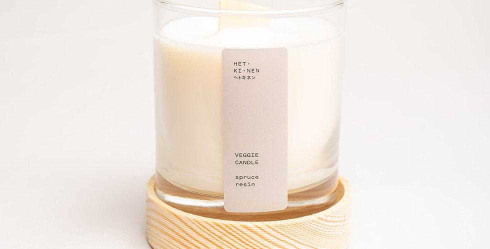 Veggie Candle Spruce resin